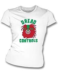 Dread bei die Kontrollen Damen Slim Fit T-Shirt Wie von Joe Strummer getragen (The Clash) (mittel)