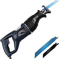 Timbertech® Stichsäge Elektrische Säbelsäge 750W mit 2Klingen für Holz und Metall