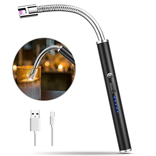 MOSUO Encendedor Electrico, Mechero Electrico USB Recargable Arco Eléctricos sin Llama ni Olor, Mechero Plasma con Cuello Largo & 360º Flexible para Encender Velas, Cigarrillos, Papel, Estufa