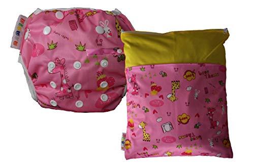 Dinuve Pack Pañal bañador para bebé niña de 0 a 3 años Reutilizable con Bolsa Impermeable a Juego...
