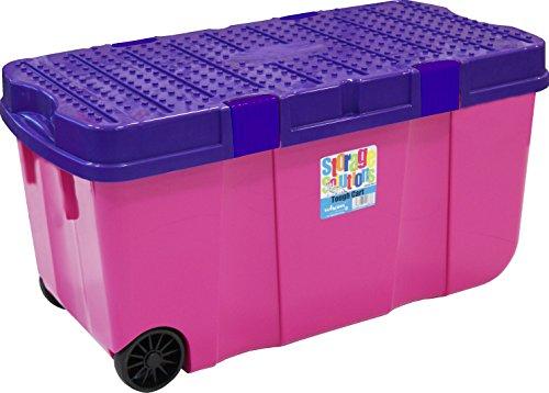 *Wham 15250 Clipbox Tough Cart, 100 L, 80 x 40 x 40 cm, 2 Räder, rosa-lila*
