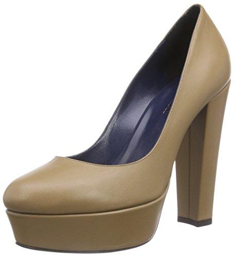 PolliniSCARPAD.CUOIO125 VITELLO NUDE - Scarpe con plateau da donna, marrone, 39