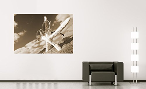 Bilderdepot24 Vlies Fototapete - Smell and Beauty - sephia - Sepia - 90x60 cm - mit Kleister –...