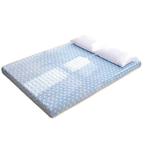 Komfort Matratze Bettmatte Verdickte Tatami-Fußmatte, Memory-Foam-Bodenmatratze, Queen-Size, Einzelgröße, Schlafsaal, gelb, 120 x 190 cm, 47 x 75 Zoll. ( Farbe : Blau , Größe : 100x200cm(39x79inch) ) -