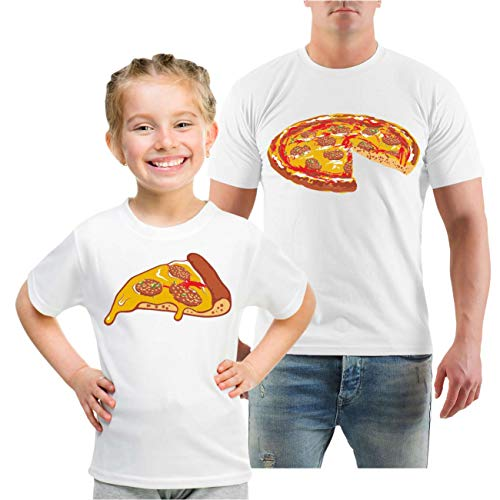 Spaß kostet Partnershirt Vater & Tochter Familien Outfit Pizza