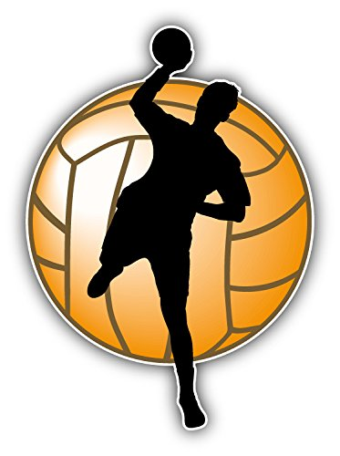Handball Player Silhouette Auto-Dekor-Vinylaufkleber 10 X 12 cm