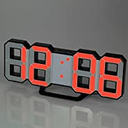 Multifunctional Large LED Digital Wall Clock 12H/24H Time Display With Alarm and Snooze Function Adjustable Lu