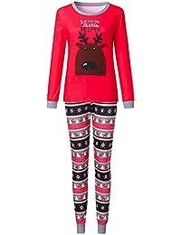 Ropa Conjunto de Pijamas de Dormir Familiares de Navidad para Familia a Juego Padre Madre Niños
