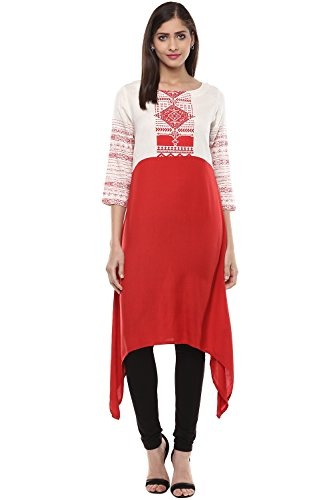Rangmanch By Pantaloons Women's Asymmetric Kurta