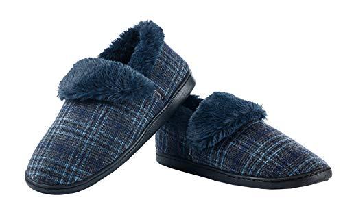 promo code e7de1 8c099 Ommda Pantofole Uomo Invernali con Peluche Interno Pantofole ...