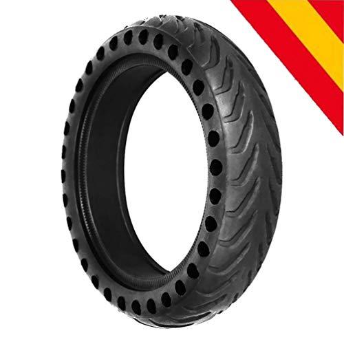 """HOROES Repuesto Neumático Rueda 8,5"""" x1 sólido para Scooter Eléctrico Xiaomi Scooter M365 - Negro"""