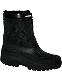 Adults Waterproof Sole Fur Lined Rain Snow Ski Mucker Boots Size 3-8