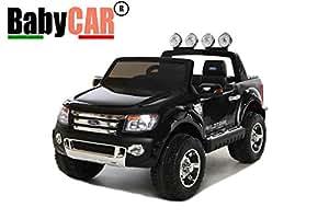 voiture véhicule électrique babycar JEEP FORD RANGER 12v noir avec télécommande pour la télécommande