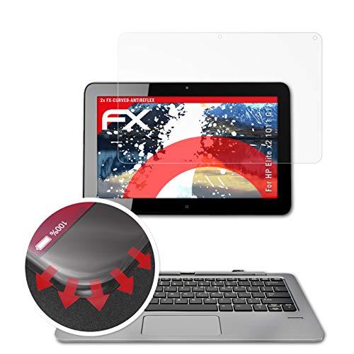 atFolix Schutzfolie passend für HP Elite x2 1011 G1 Folie, entspiegelnde & Flexible FX Bildschirmschutzfolie (2X)
