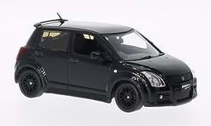 Suzuki Swift Sport, noire, RHD, 2007, voiture miniature, Miniature déjà montée, Triple 9 Collection 1:43