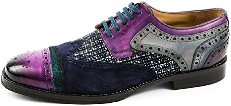 Melvin & Hamilton MH15-302 - Zapatos de Cordones de Piel Lisa para Hombre Morado Morado 41 EU -