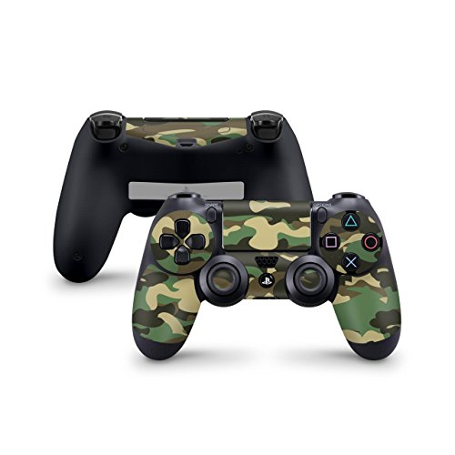 Skins4u Sony Playstation 4 Skin PS4 Controller Skins Design Sticker Aufkleber styling Set auch für Slim & Pro - Woodland Camo