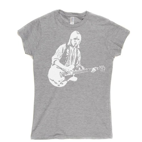 Tom Petty Womens Fitted T-shirt (sportsgrey/white medium) -
