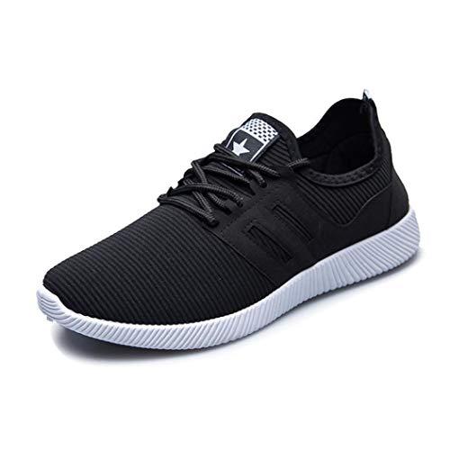 ELECTRI Hommes Chaussures de Course Hommes Occasionnels Chaussures Printemps Été Rayure Dentelle Unisexe Lumière Respirant Mode Femmes Chaussures Baskets