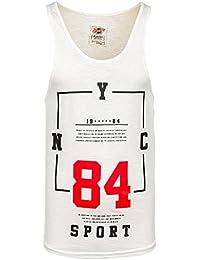 BOLF Herren Tanktop T-Shirt Tee Ärmellos Classic Aufdruck Rundhals 3C3 Motiv