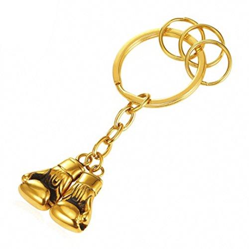 MESE London Boxhandschuhe Schlüsselbund Gold Sport Schlüsselanhänger - Kostenlose Geschenkbox