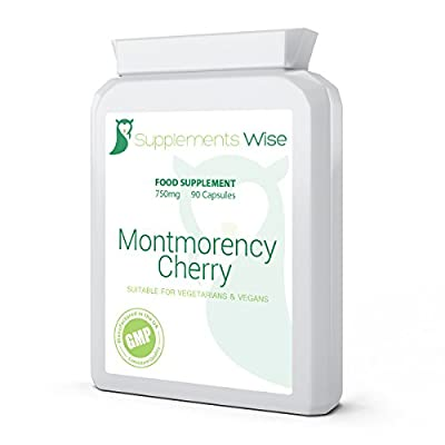 Montmorency Cherry Capsules | 90 x 750mg | High Strength Active Cherry Extract For Gout, Healthy Joints & Muscles | Supports Healthy Sleep Patterns from Supplements Wise