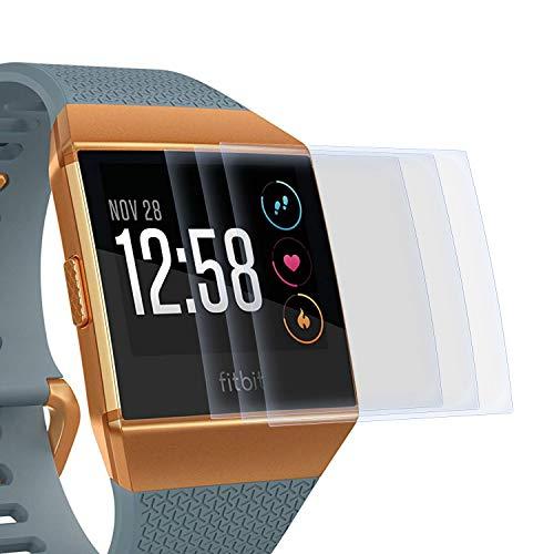 zanasta 3 Stück Schutzfolie kompatibel mit Fitbit Ionic Bildschirmschutzfolie Nano Schutz Folie | Volle Abdeckung, Klar Transparent