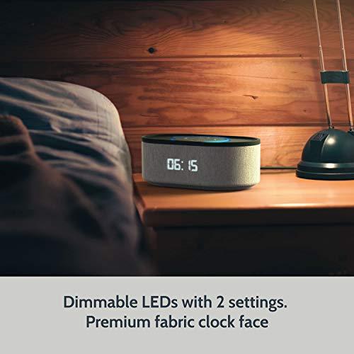 Nachttisch Lautsprecher für Echo Dot 2. Generation mit LED-Wecker und USB-Ladeanschluss (UK-Stecker)