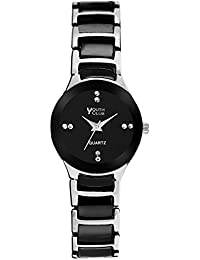 YOUTH CLUB MULTI-IN-ONE COLOUR ANALOG BLACK DIAL WOMEN'S WATCH-RD-01BLKWTLD
