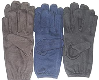 Tex Homz Men's & Women's Hand Gloves For Protection From Sun Burn/Heat/Pollution-set of 3 (Blue, Brown, Black), Free Size
