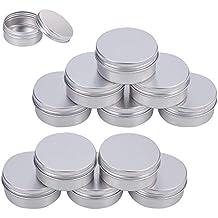 BENECREAT 20 Pack Lata de 50ml latas de Aluminio Redondos de Rosca Contenedores de la Tapa