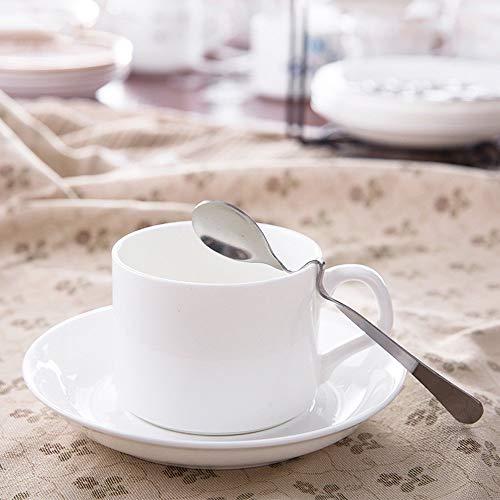 DEED Cappuccino Cups Untertassen-Sets, Cups im europäischen Stil. China Cup and Plate Set Nachmittagstasse Kaffeetassen Keramiktasse Set mit Geschirrlöffel, Home Water Cup, Küche Restaurant Geschirr China Plate Set