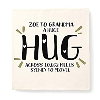 Personalised HUG cushion across miles cushion, christmas gift for faraway family and friends
