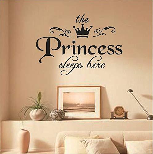 PrincessPrincess Wandaufkleber können entfernt werden Schlafzimmer Wohnzimmer geschnitzt europäischen und amerikanischenMottoWandaufkleberenglische Poesie29 * 40cmschwarz