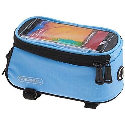 MaMaison007 ROSWHEEL bicicletas móvil táctil pantalla bolsa tubo bolsa - azul-L
