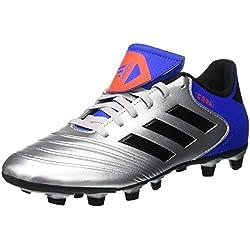 adidas Copa 18.4 FxG, Zapatillas de Fútbol para Hombre, Plateado (Silver Metallic/Core Black/Football Blue 0), 39 1/3 EU