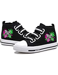 YiqiUime Splatoon Zapatos Transpirable Zapatos de Lona de impresión Alto-Top de los Zapatos de Suela de Goma Zapatos Planos Zapatos de la Zapatilla niños y niñas