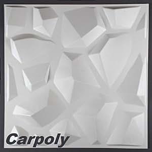 10 m2 paneele 3d platten wanddekoration wandpaneele dekoration 50x50cm carpoly. Black Bedroom Furniture Sets. Home Design Ideas