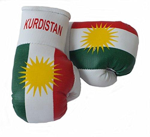 Mini Boxhandschuhe KURDISTAN, 1 Paar (2 Stück) Miniboxhandschuhe z. B. für Auto-Innenspiegel