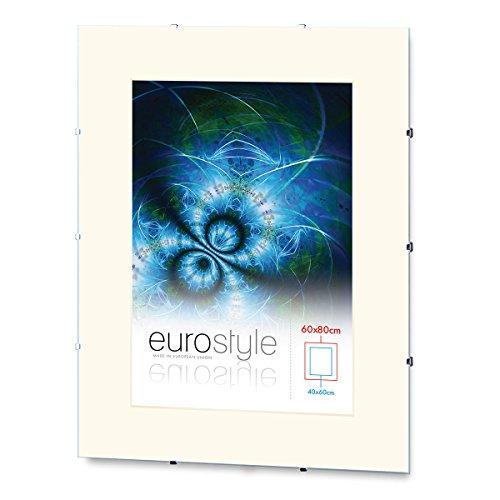 Rahmenloser Bilderrahmen Bildhalter Cliprahmen 59,4x84cm (DIN A1) Acrylglas