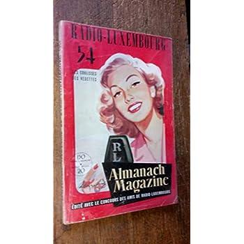 Almanach Magazine Radio Luxembourg 1954 -