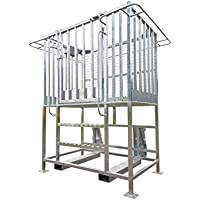 Plataforma de trabajo con elevacion includa - 1 metro, para instalar en enganche EN, 1570 mm x 1100 mm x 920 mm
