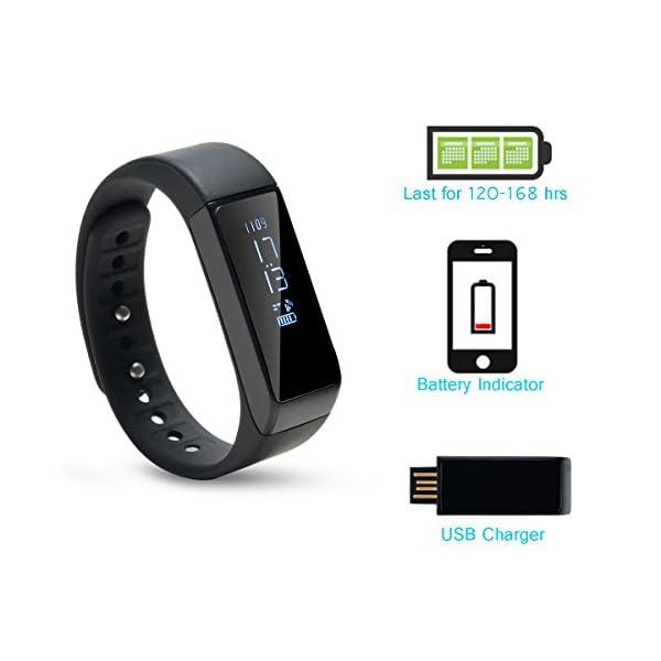 AGPTEK V07 Fitness Tracker Presión Arterial Ritmo Cardíaco Actividad Monitor Bluetooth 4.0 Pantalla OLED Pulsera… 7