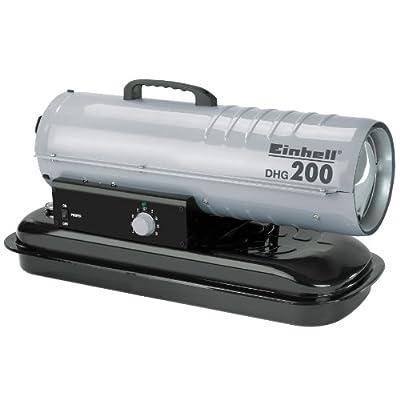 Einhell Diesel Heizgebläse DHG 200 (Heizleistung bis 20 kW, 400 m³/h Luftdurchsatz, 19 l Tank, bis 160 qm Raumgröße, elektrische Zündung, Thermostat) von Einhell