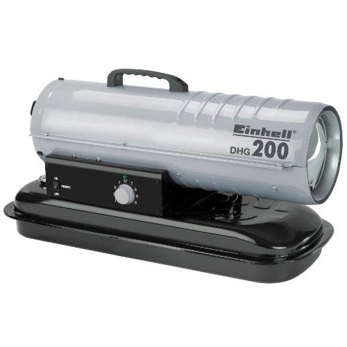elektrisches heizgeblaese Einhell Diesel Heizgebläse DHG 200 (Heizleistung bis 20 kW, 400 m³/h Luftdurchsatz, 19 l Tank, elektrische Zündung, Thermostat)