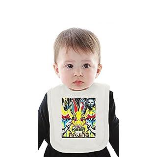 Keep Raving Rabbit Organic Baby Bib With Ties Medium