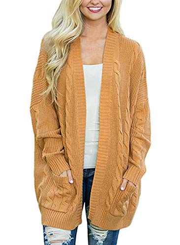 Aleumdr Strickjacke Damen Causual warm Lang Winter Cardigan Langarm-CardiganStrickjacke Outwear...