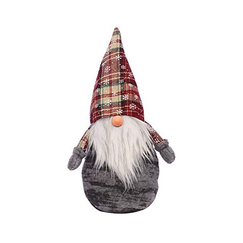 WY1688 Santa Claus Soft Plüschspielzeug Gefüllte Animierte Puppe Weihnachtsbaum-Dekoration,B
