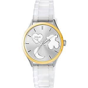 Reloj Tous Sweet Power de acero IP dorado con correa de silicona blanca