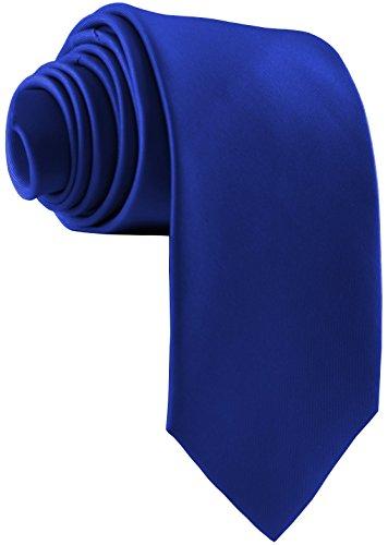 ADAMANT Royalblaue Designer Krawatte breit - TOPQUALITÄT - Moderne uni Krawatten für Business und Alltag - Royalblau/Blau